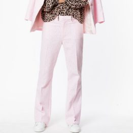 Zadig & Voltaire • roze pantalon met luipaarden print