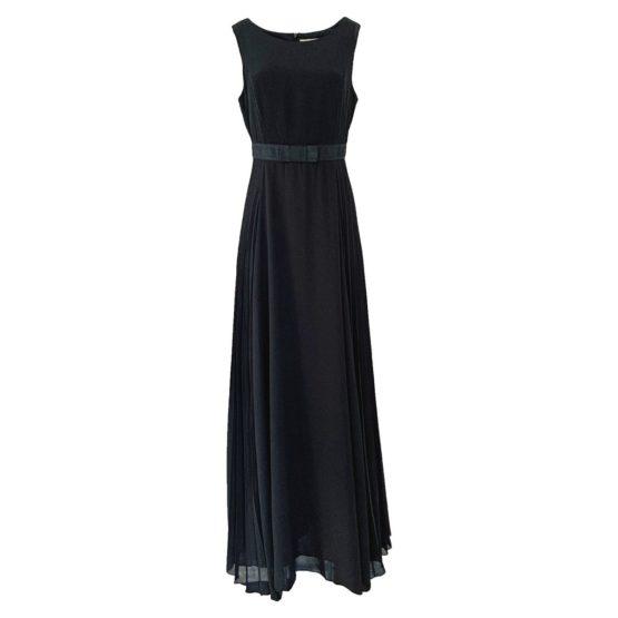 Ki6? Who are you? • zwarte maxi jurk met plooien
