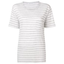 T by Alexander Wang • grijs t-shirt met strepen