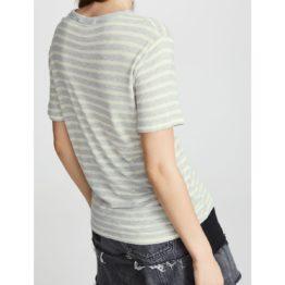 T by Alexander Wang • grijs t-shirt met lime strepen