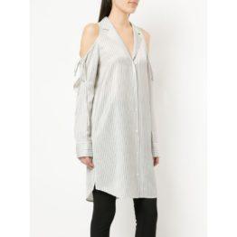 AlexanderWang.T • lange overhemd blouse met open schouders