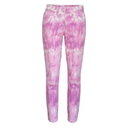 Cambio Jeans • paarse Parla Cropped jeans tie dye
