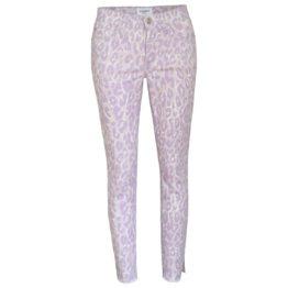 Cambio Jeans • paarse jeans Parla met dierenprint