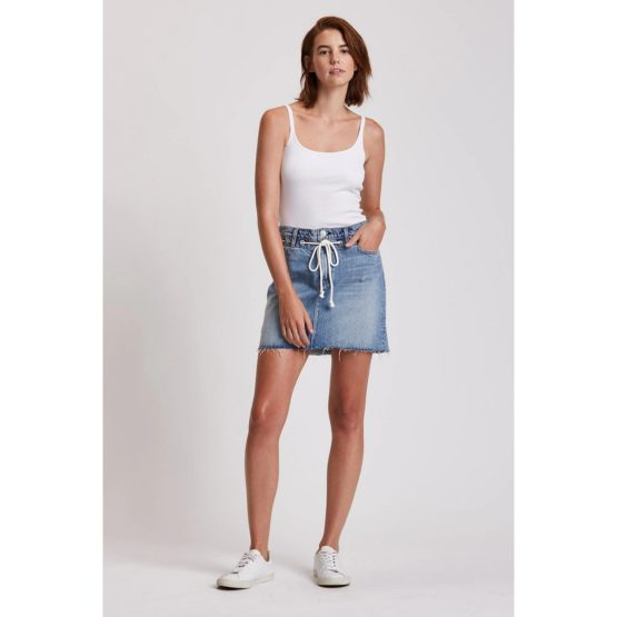 Hudson Jeans • blauwe denim rok Grommet