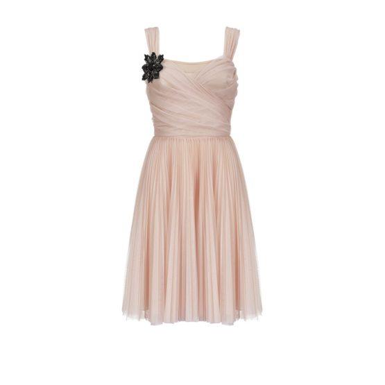 Pinko • korte roze jurk met plooien