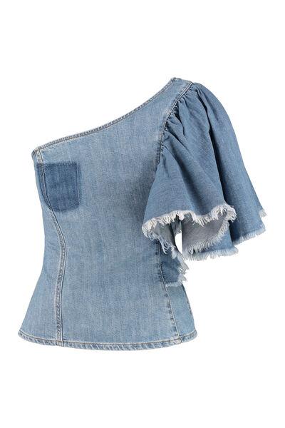 Pinko • jeans top Maya met een open schouder