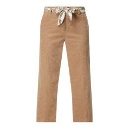 Cambio • bruine ribfluwelen culotte pantalon Claire