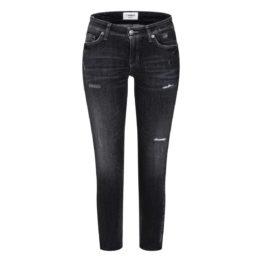 Cambio Jeans • antraciete Liu short jeans met beschadigingen