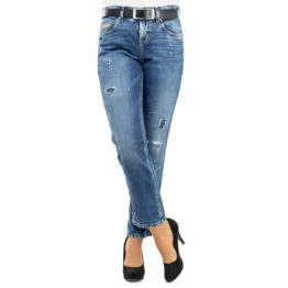 Cambio Jeans • blauwe vintage jeans Tess straight short eco