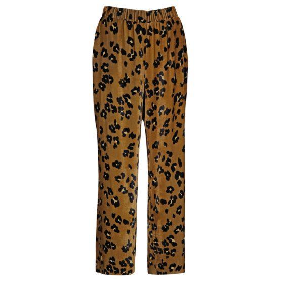 Caroline Biss • fluwelen pantalon met luipaard motief