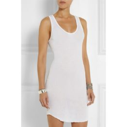 Isabel Marant Etoile • witte geribbelde tanktop jurk