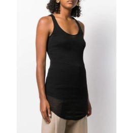 Isabel Marant Etoile • zwarte geribbelde tanktop jurk