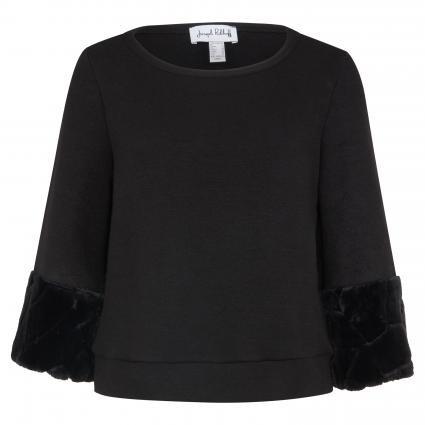 Joseph Ribkoff • zwarte trui met nep bont