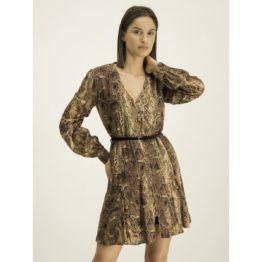 Liu Jo • korte bruine jurk met knoopjes