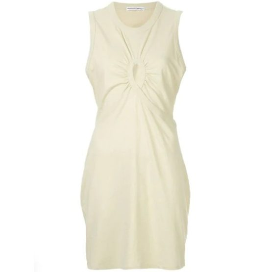 T by AlexanderWang • jurk met keyhole in lime