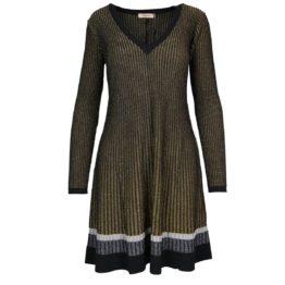 Twinset • fijngebreide wollen jurk met goud