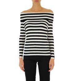 Twinset • zwart wit gestreepte trui met boothals