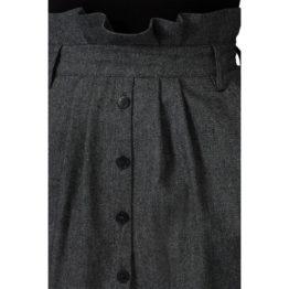 Ba&sh • grijze midi rok Cohle met hoge taille