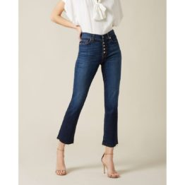 7 for all Mankind • donkerblauwe The Straight Crop