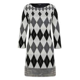Ana Alcazar • geruite jurk in zwart en grijs