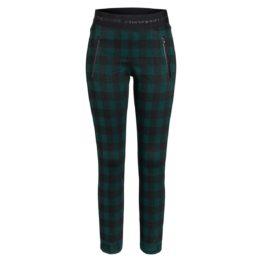 Cambio Sport • geruite broek Ranee in groen zwart
