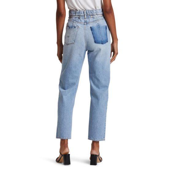 Hudson Jeans • lichtblauwe Elly high waist tapered crop jeans