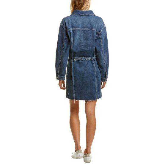Hudson Jeans • blauwe denim jurk met knopen