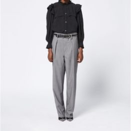 Isabel Marant Etoile • grijze wollen pantalon Nura
