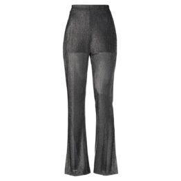 Liu Jo • wijde pantalon in metallic grijs zilver goud