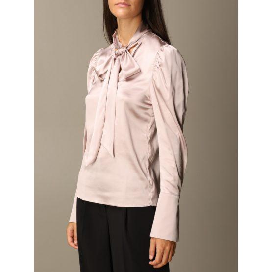 Patrizia Pepe • satijnen blouse met linten in lila