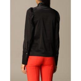 Patrizia Pepe • satijnen blouse met linten in zwart