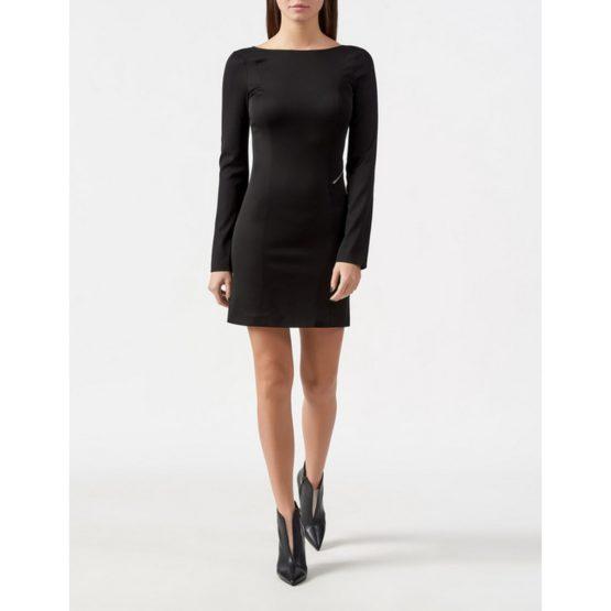 Patrizia Pepe • korte zwarte jurk met zilveren rits