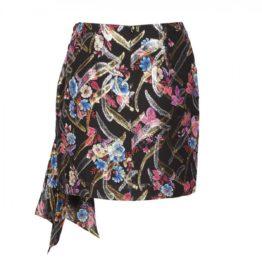 Pinko • korte zijden rok met linten