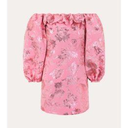 Stine Goya • roze jurk Dora met bloemen