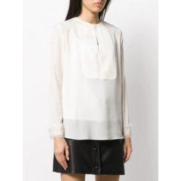 Twinset • sneeuw witte blouse met parels
