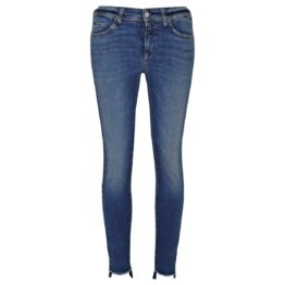 Cambio Jeans • blauwe Parla Zip jeans stepped hem