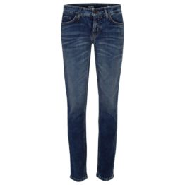 Cambio Jeans • blauwe slim fit jeans in vintage