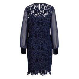Caroline Biss • donkerblauwe jurk met kant