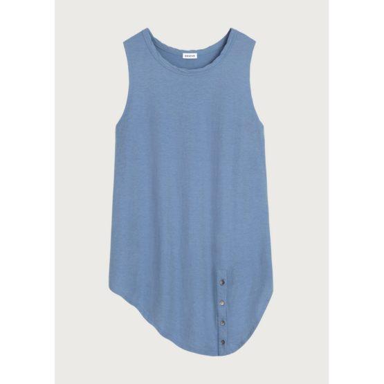 Neeve • blauwe mouwloze top met knopen