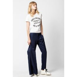 Zadig & Voltaire • donkerblauwe pantalon Pomelo strass