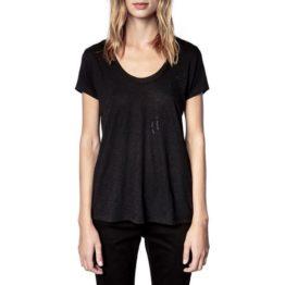 Zadig & Voltaire • zwart t-shirt met strass steentjes