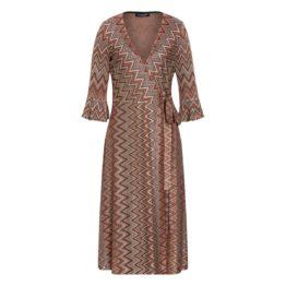 Ana Alcazar • overslag jurk met zigzag patroon