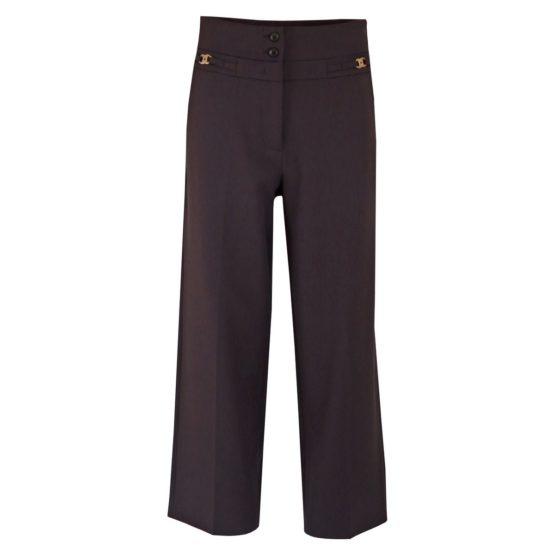 Cambio • donkerbuine pantalon Cecilia met hoge taille