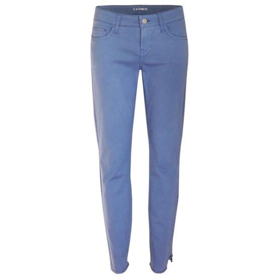 Cambio • blauwe slim fit broek met stepped hem