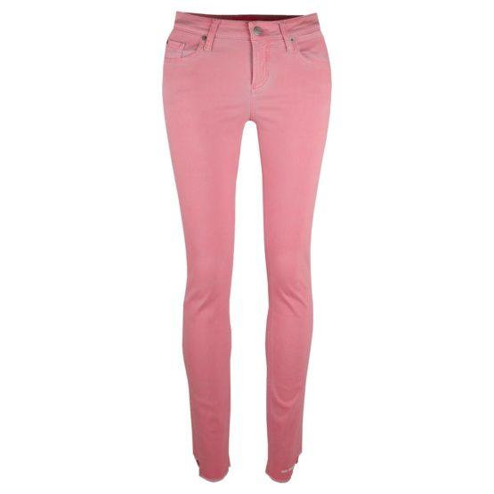 Cambio Jeans • roze skinny jeans met stepped hem