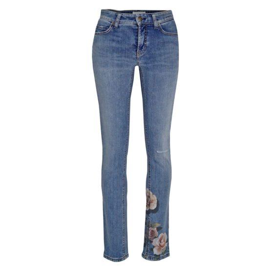 Cambio Jeans • blauwe Parla met rozen