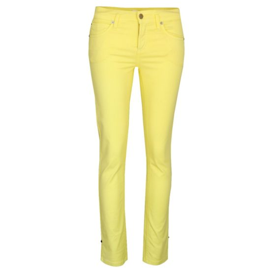 Cambio Jeans • gele broek Tess Straight Short