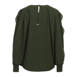 Liu Jo • kaki blouse met open mouwen