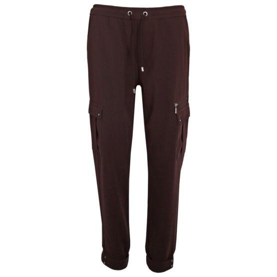 MAC Jeans • relaxte donkerbruine broek EASY cool zip
