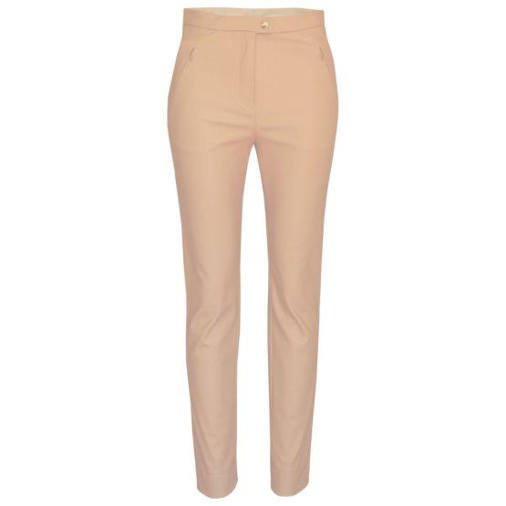 Patrizia Pepe • beige faux leather pantalon